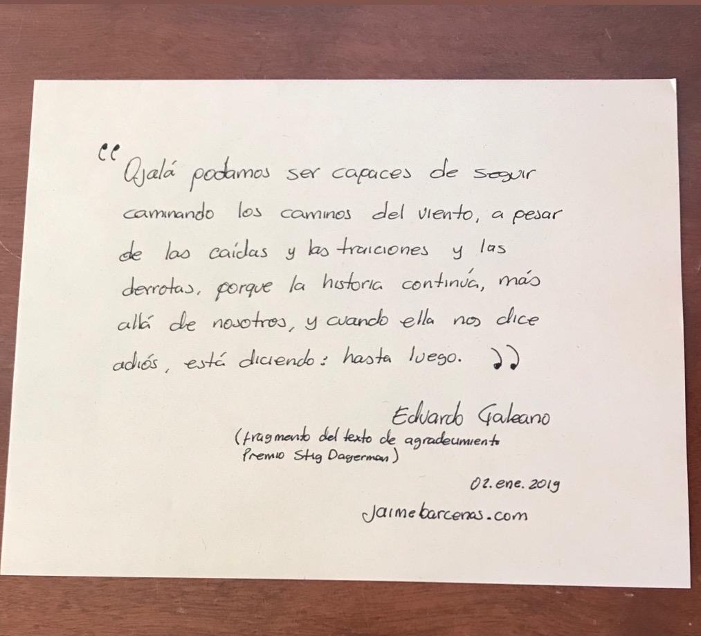 Fragmento de Galeano, para empezar el año
